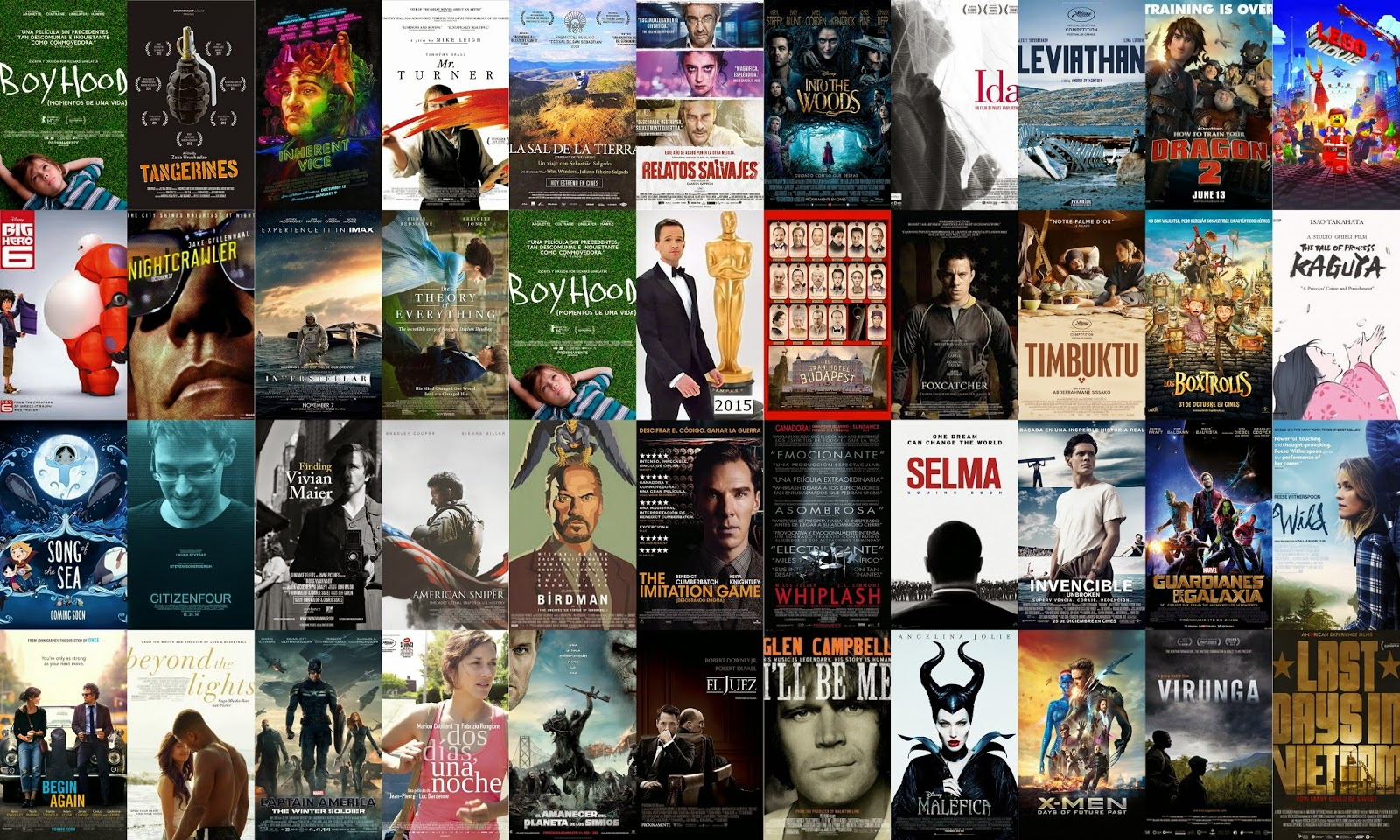 Nominaciones a los Óscars 2015