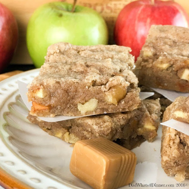 http://dadwhats4dinner.com/caramel-apple-bars/
