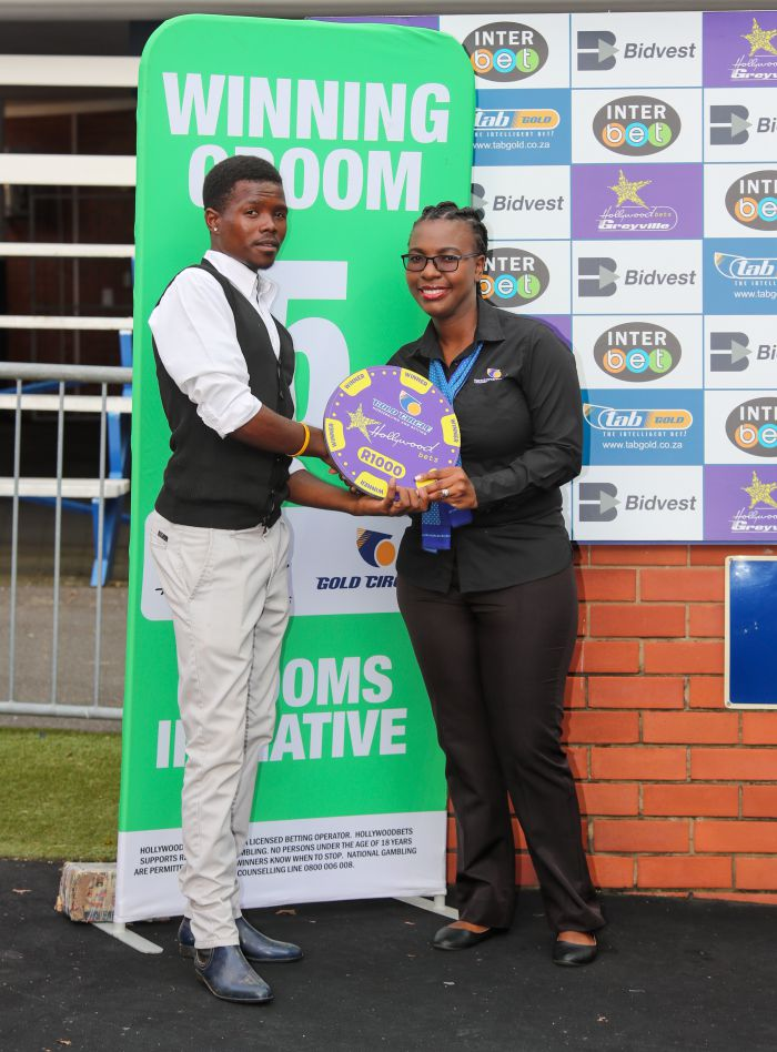 Grooms Initiative winner - Friday 6th December - Hollywoodbets Greyville - Race 1 - Sihle Matshokotshay - QUANT MASTER