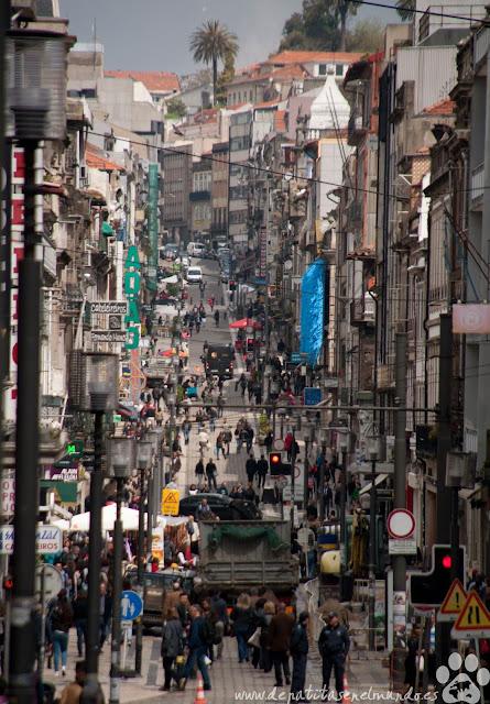 Rua Santa Catarina en Oporto