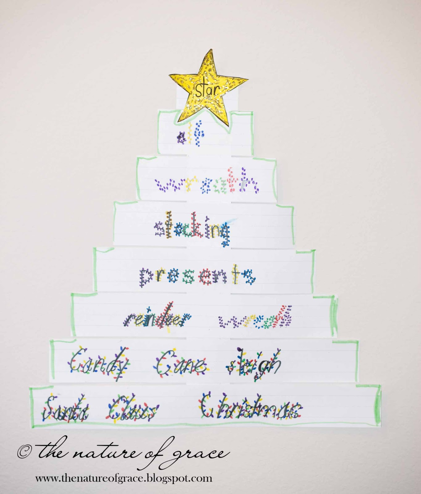 Christmas Spelling Words.The Nature Of Grace Lesson Theme Christmas