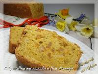 Cake aux amandes et fleur d'oranger, sans gluten