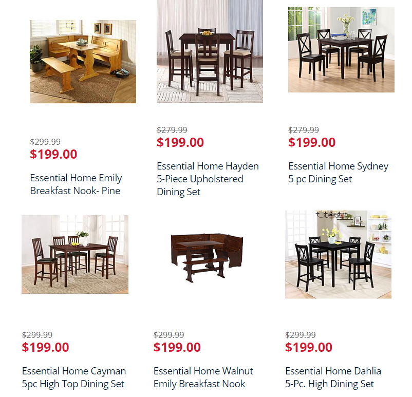 Wny deals and to dos kmart great deals on dining room for Kmart dining room sets