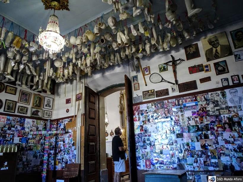 O que fazer em Salvador (Bahia) - Igreja do Bonfim - sala dos milagres