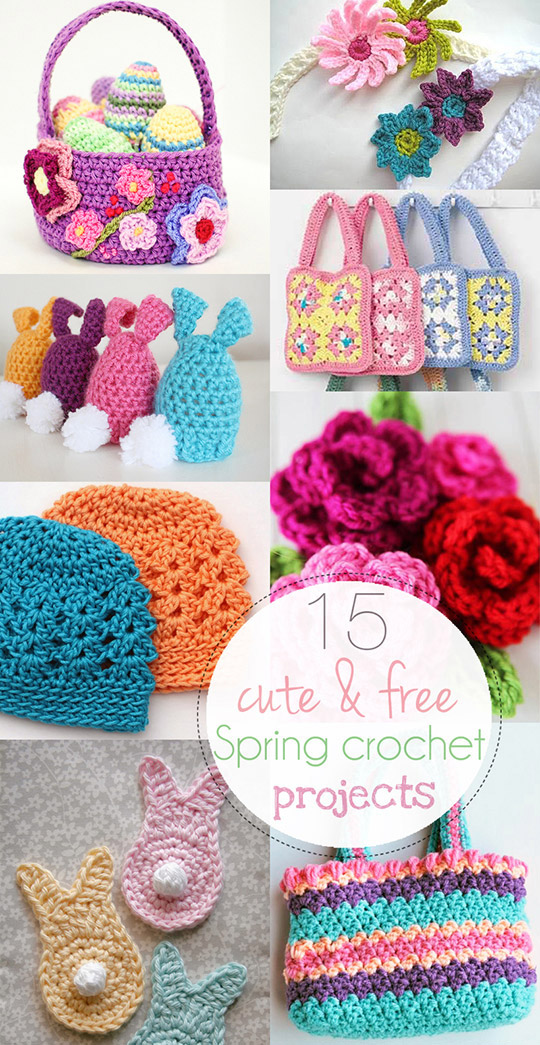 Cute And Free Spring Crochet Projects Round Up Anabelia Craft