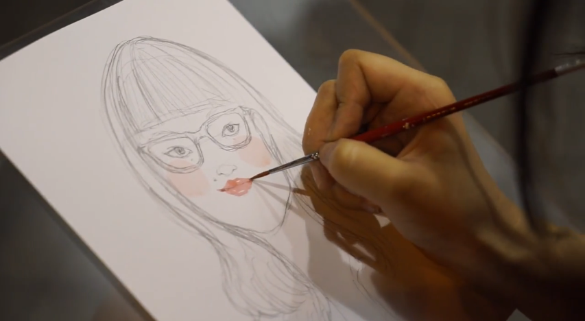 Kitty N. Wong / Live Draw Hong Kong Girl Portrait