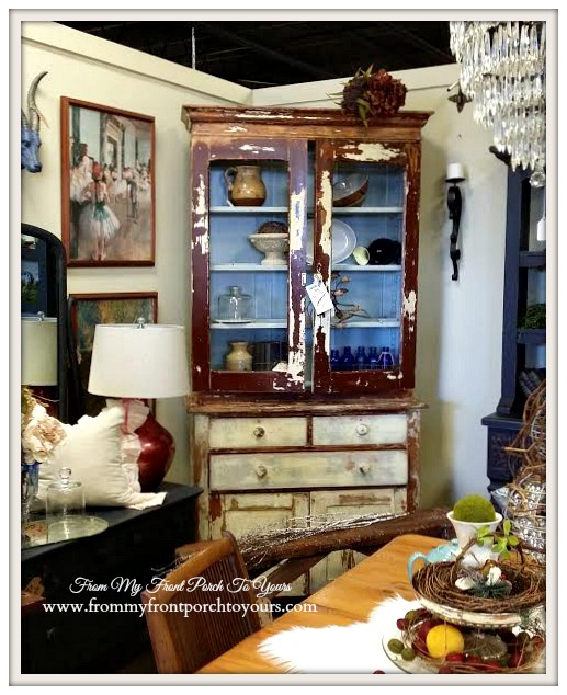 Distressed Hutch-Georgia-Antique Shopping-The Savvy Shopper- From My Front Porch To Yours