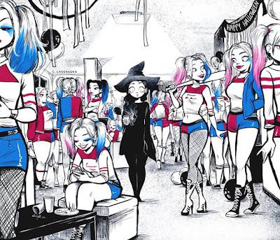 Disfraz de Harley Quinn en Halloween humor