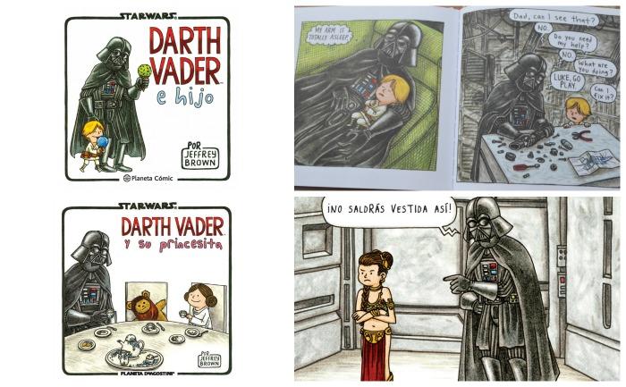 cuento comic star wars Darth Vader e hijo y su princesita, para el día del padre