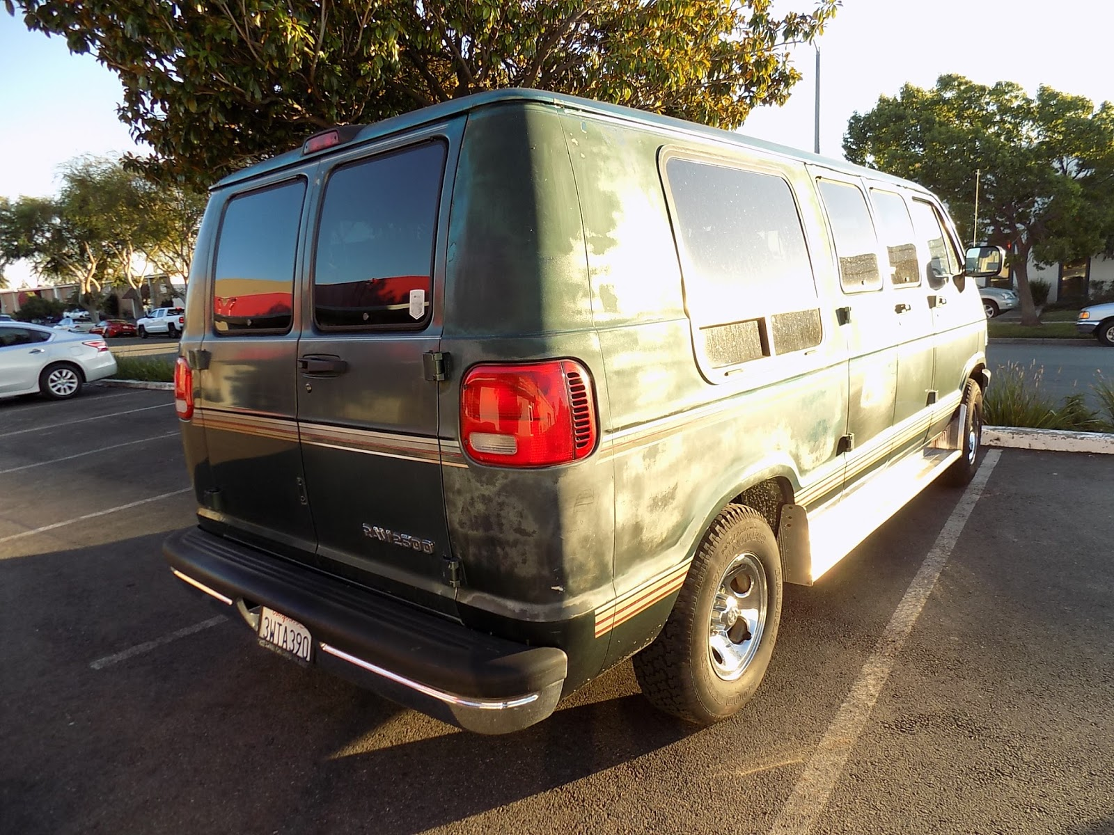 Peeling Paint On Dodge Van Before Complete Job At Almost Everything Auto Body