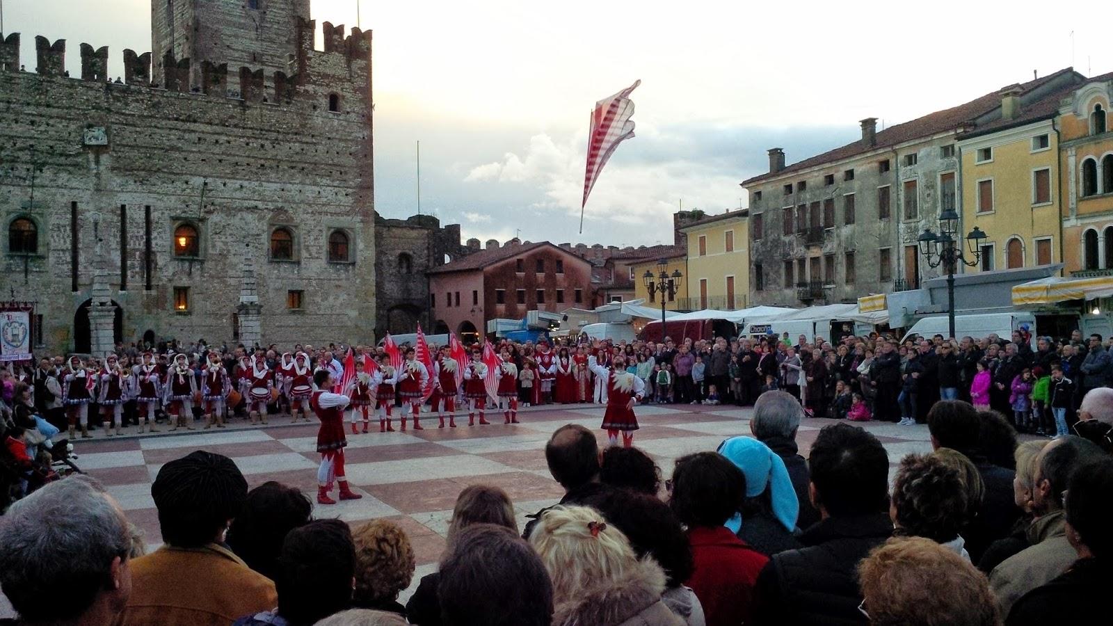 Marostica's main square, Veneto, Italy