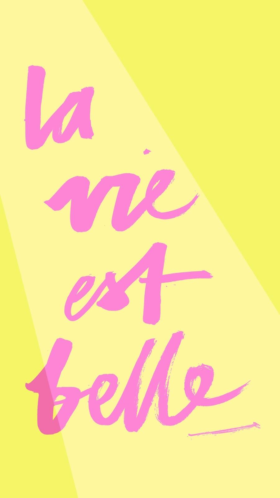la-vie-est-belle-iphone wallpapers