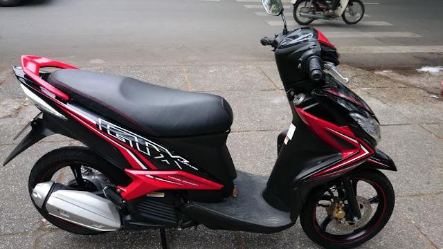 Sơn xe Luvias GTX đỏ đen zin cực đẹp
