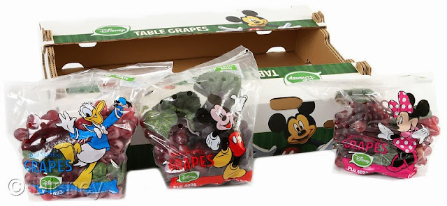 Disney-branded stone fruit and table grapes