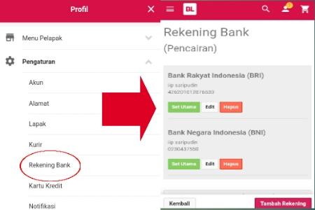 pengaturan rekening bank