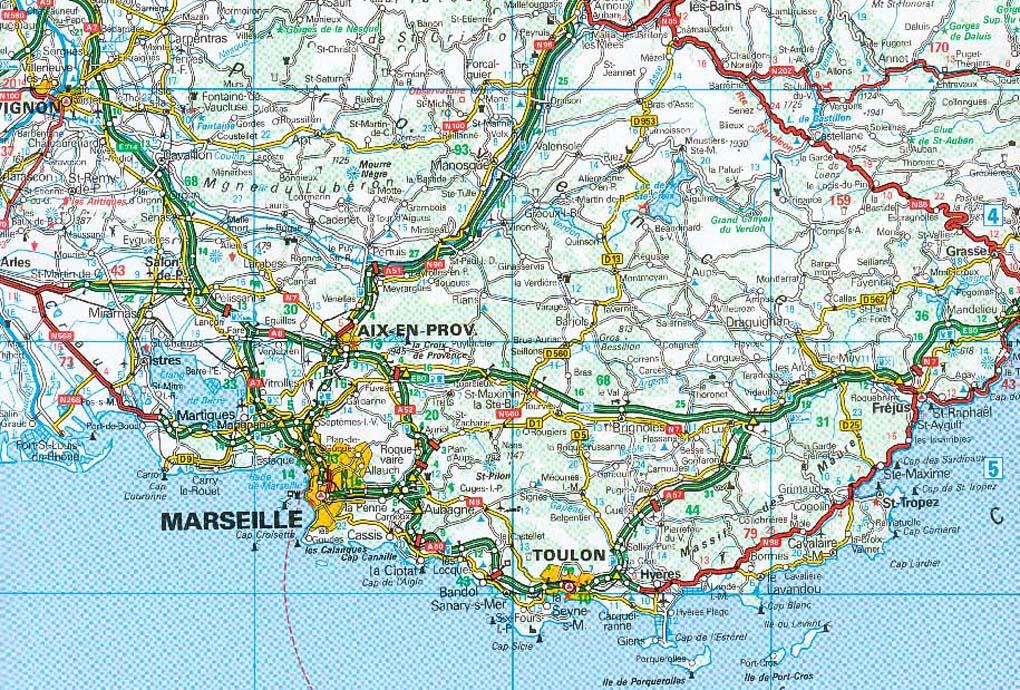 mapa estradas frança Mapas de Marselha   França | MapasBlog mapa estradas frança