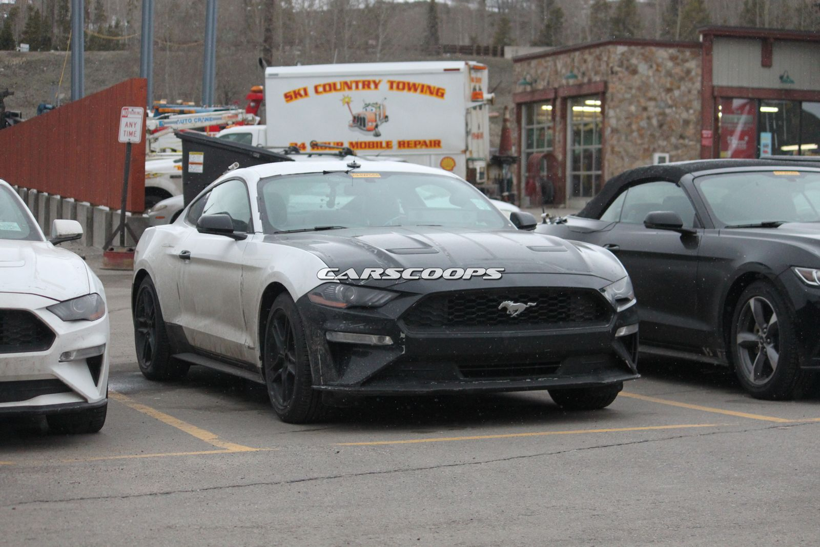 u spy ford testing a trio of 2018 mustang 4 cyl ecoboosts. Black Bedroom Furniture Sets. Home Design Ideas