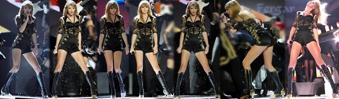 Taylor Swift Video Mini Short Cameltoe Con Botas