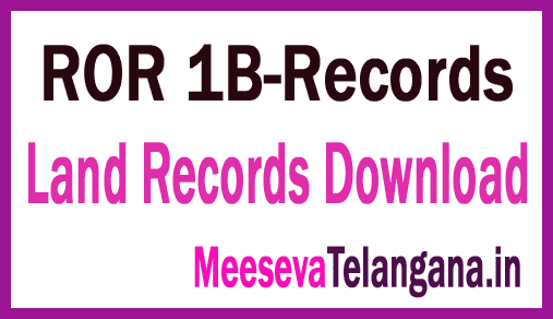 Telangana-TS-1-బి నమూనా (ROR)-Land Records ROR 1B-Records Free-Download Mabhoomi