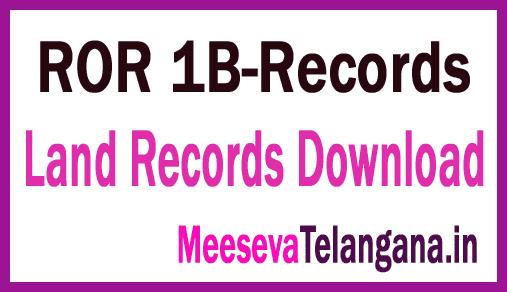 Telangana Adangal Pahani ROR 1B Pahani Free Download