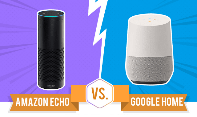 amazon echo vs google home infographic visualistan. Black Bedroom Furniture Sets. Home Design Ideas