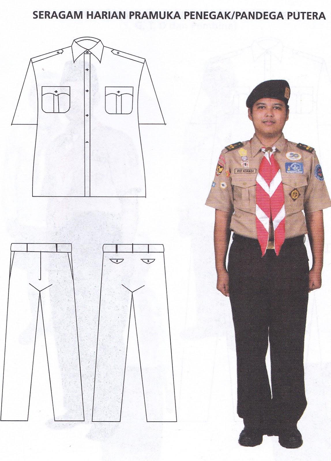 Cara Memasang Simbol Baju Pramuka