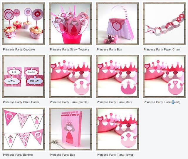 Imprimibles Gratis para Fiestas de Princesas.