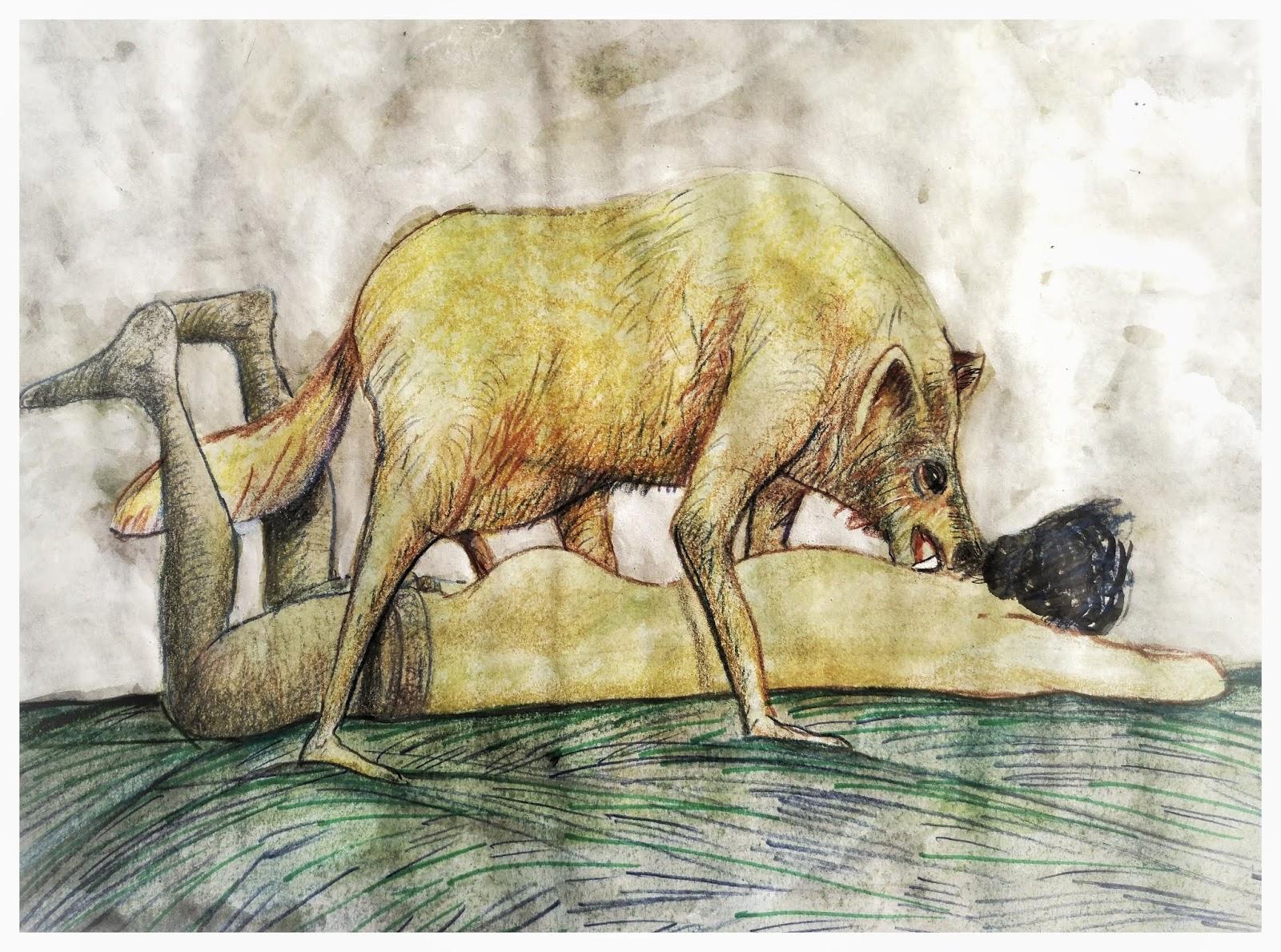 Grafica y Dibujo: hombre lobo