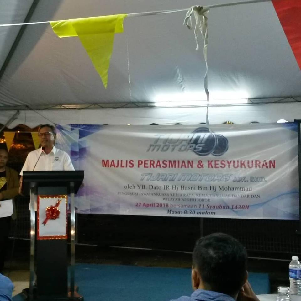 perasmian oleh YB Datuk Ir Hasni Bin Haji Mohamad