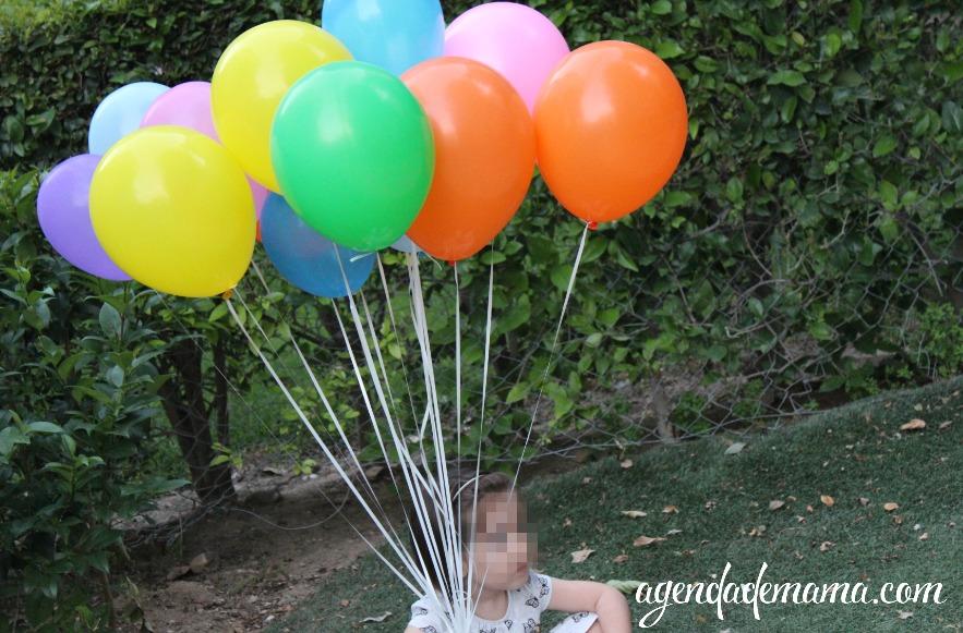 ramo de globos de helio