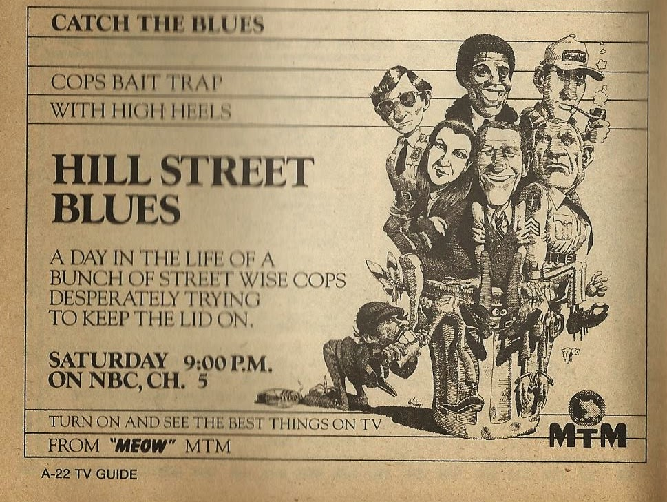 The TV Guide Historian: Hill Street Blues Ad