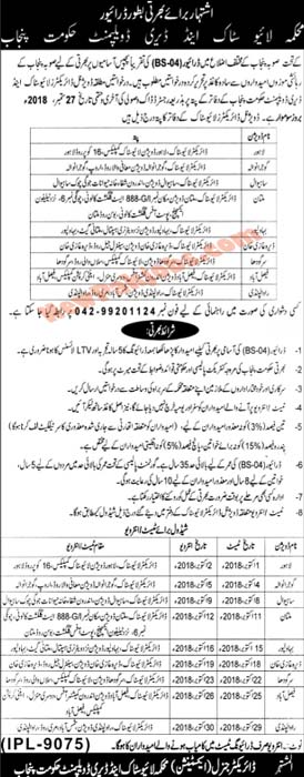 Livestock & Dairy Development Department Fresh Vacancies