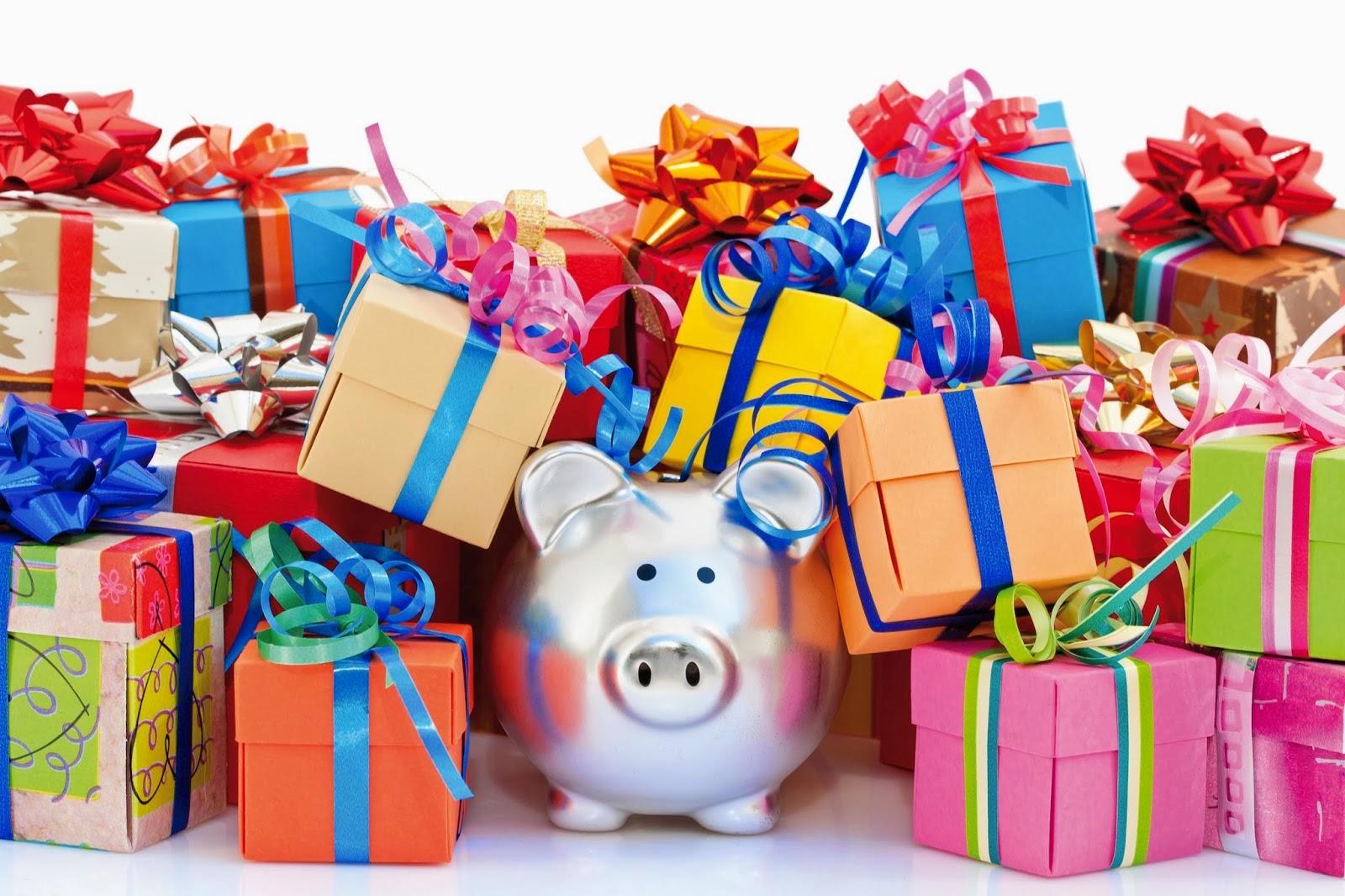 Cerdito con regalos
