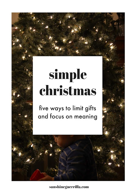 5 Ways to Limit your Gifting this Christmas