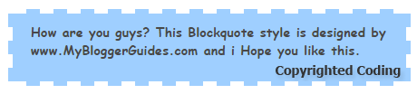 Blogger Blockquote Style 8