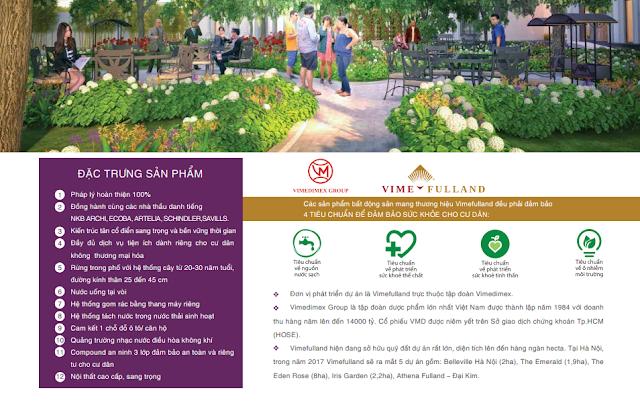 4 tiêu chuẩn sức khỏe của thương hiệu BĐS Vimefulland