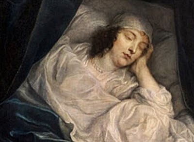 Woman on death bed