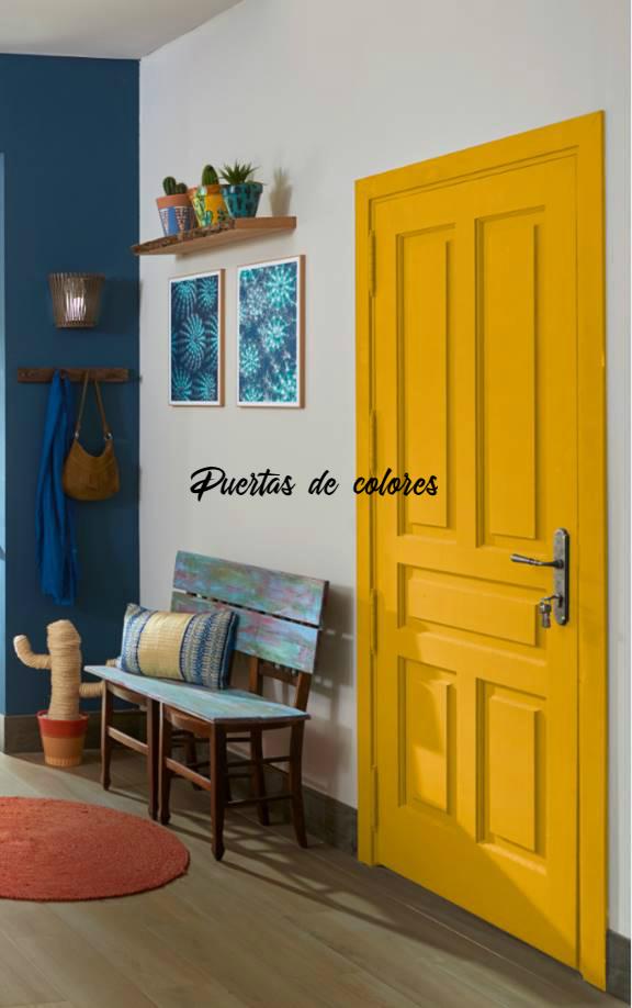 pintura puerta casa color