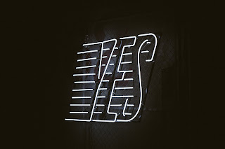 the word yes in neon lights