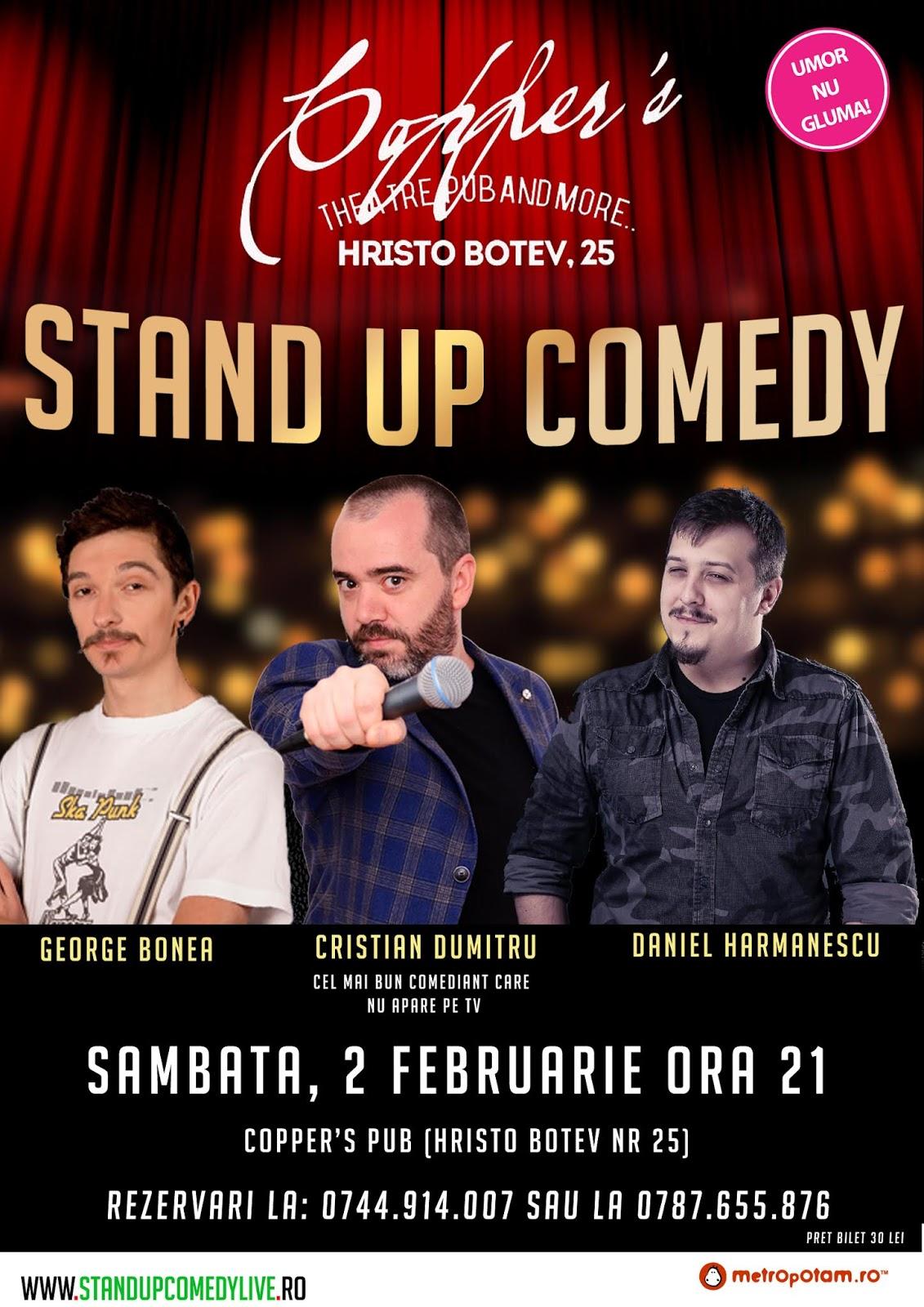 Stand-Up Comedy Bucuresti Sambata 2 Februarie 2019