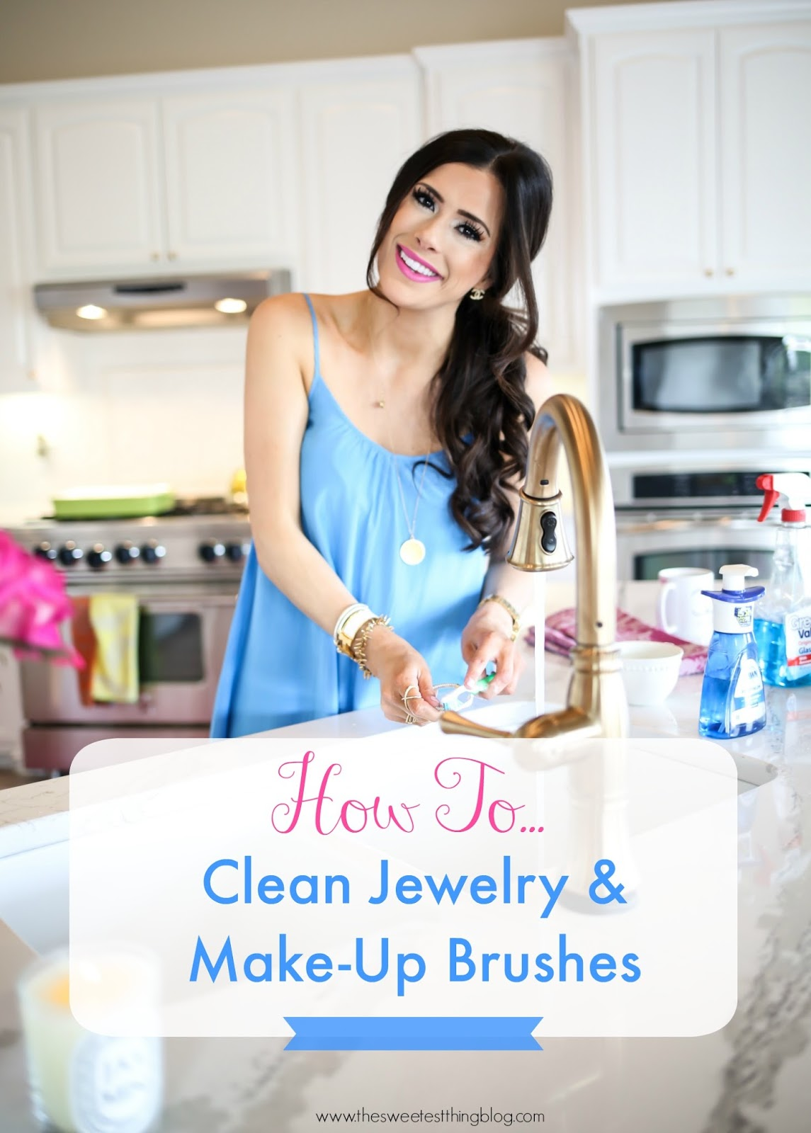 How To Clean Jewelry MakeUp Brushes w Products in Your Kitchen