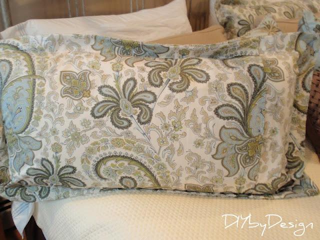 diy by design how to make a king size pillow sham. Black Bedroom Furniture Sets. Home Design Ideas