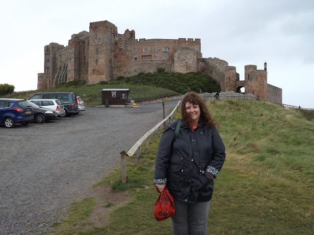Stood outside Bamburgh Castle