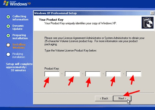 serial number instal ulang windows xp