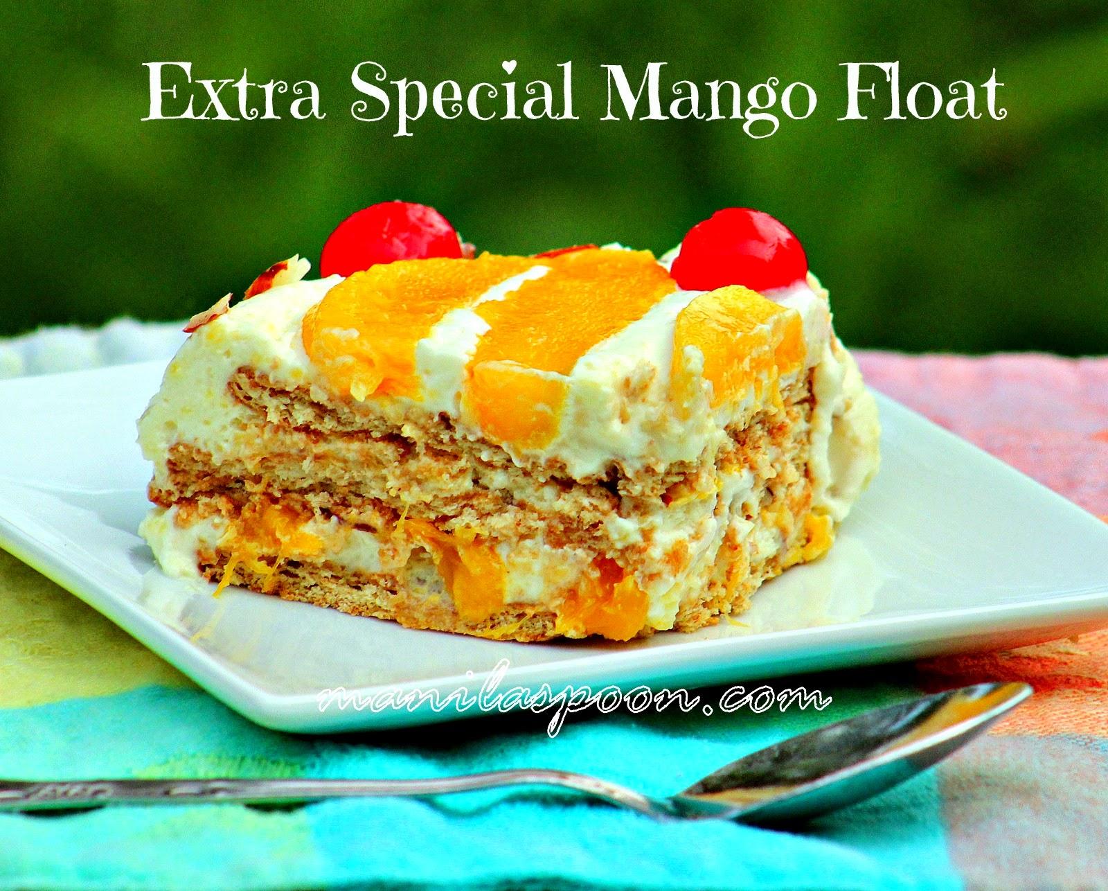 Extra Special Mango Float (Mango Icebox Cake)