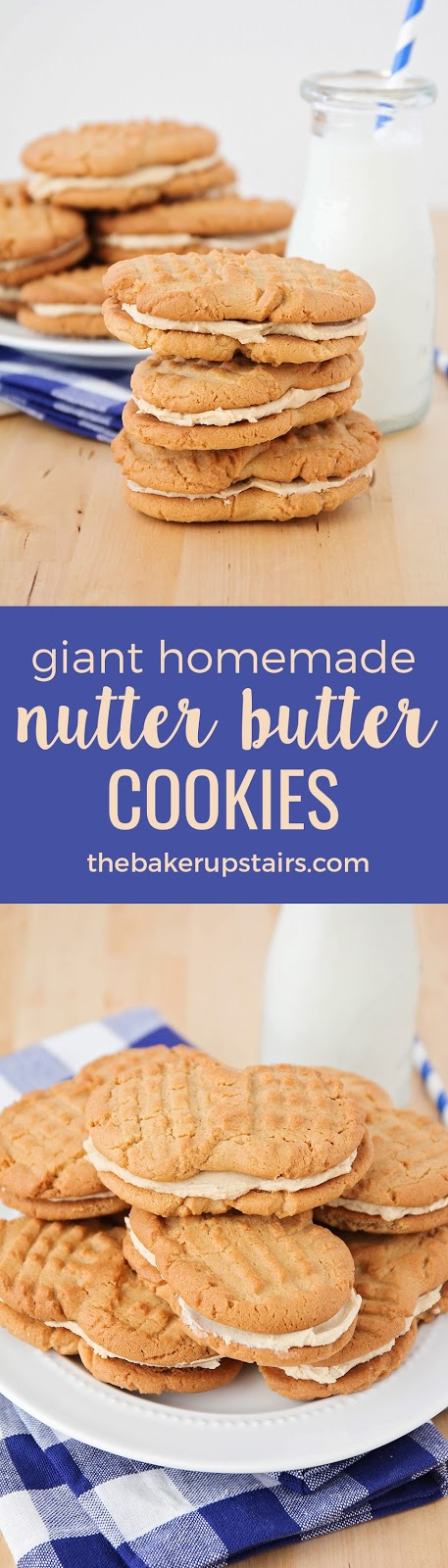 These giant homemade nutter butter cookies are better than store-bought, and so easy to make!