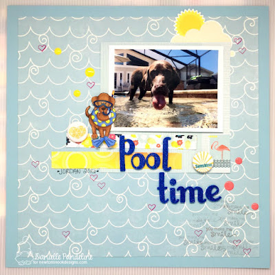 Dog Days of Summer | Newtons Nook Designs | Layout by Danielle Pandelie