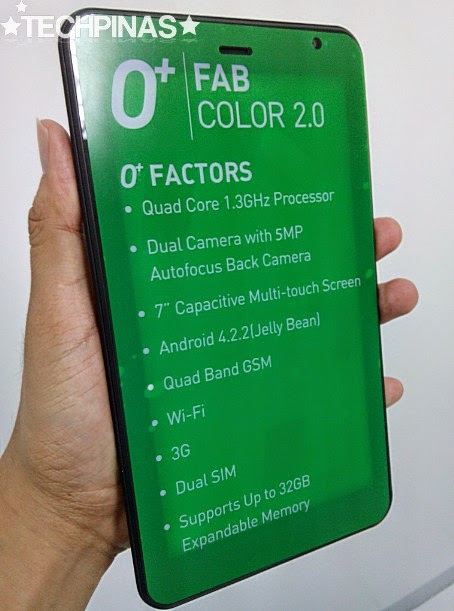 O+ Android Tablet, O+ Fab Color 2.0