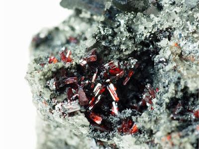 淡紅銀鉱 Proustite Imiter mine Morocco