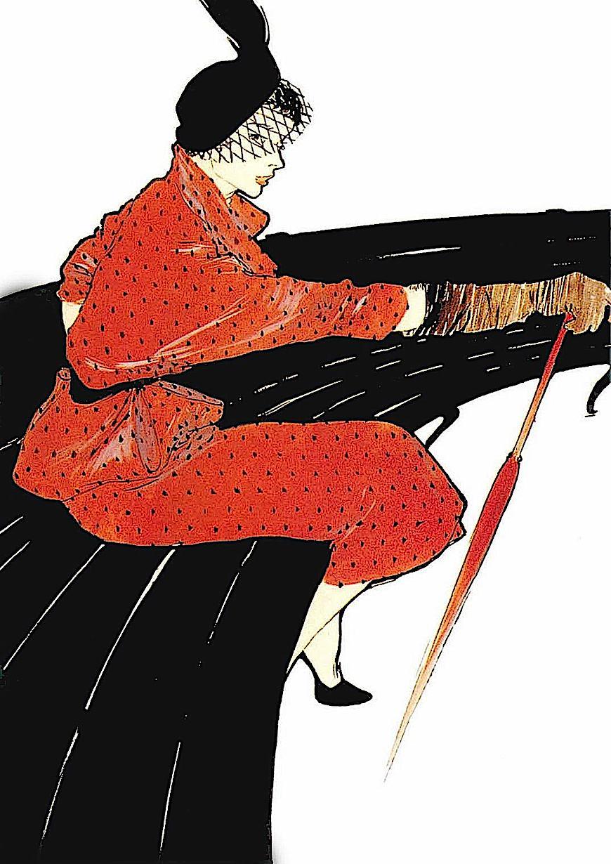 a fashion illustration by Rene Gruau